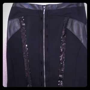 Nicole Miller front zip sequin tight skirt